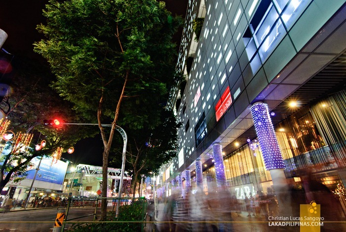 Crowds at Singapore's Orchard Road