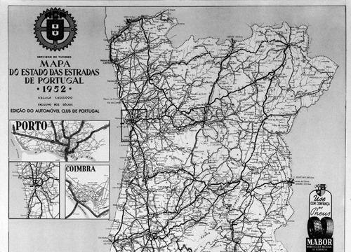 acp mapa das estradas de portugal Restos de Colecção: Junta Autónoma das Estradas acp mapa das estradas de portugal