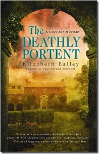 Book cover of The Deathly Portent by Elizabeth Bailey