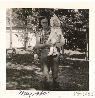 Aunt Marion and me 1952