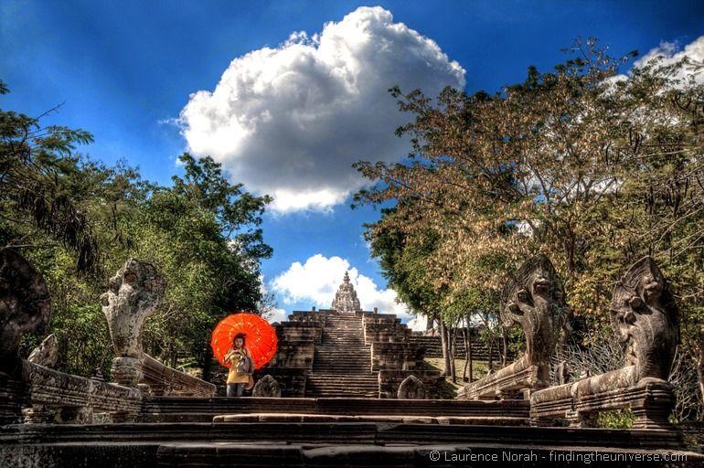 Naga stairways up to Phnom Rung temple Thailand 1