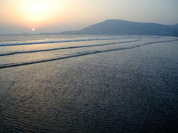 Sunset Agadir beach Morocco