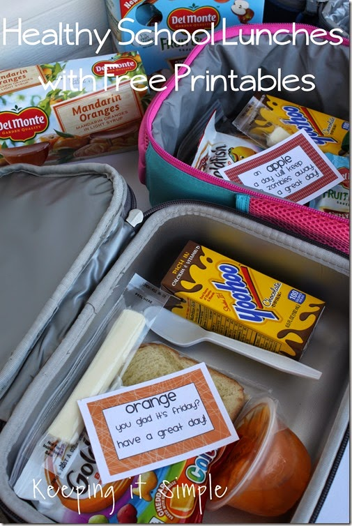 #DelMonteDTS healthy school lunch with free printable