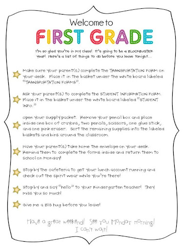 image relating to First Grade Homework Packets Printable identify Meet up with The Instructor Tips Downloads - The Initial Quality Parade