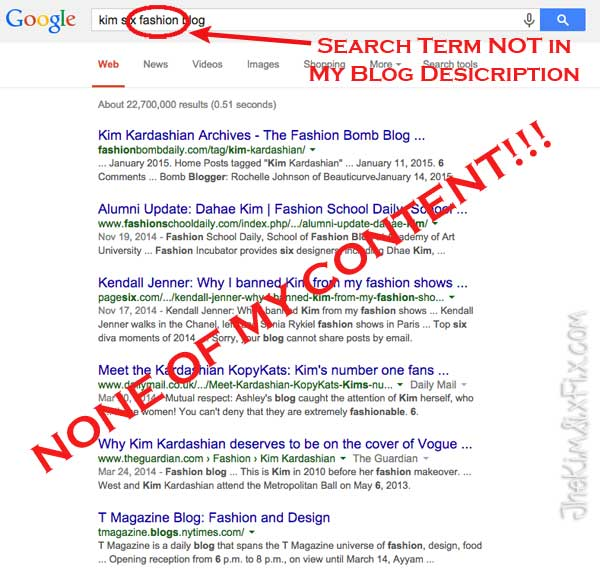 Search terms not in blog descriptions