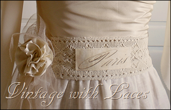 Lace Belt with Fabric Rose