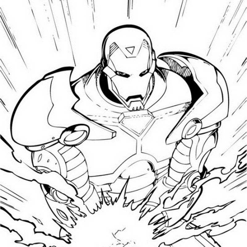 homem de ferro  desenhos para colorir