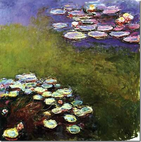 nuferi de claude monet