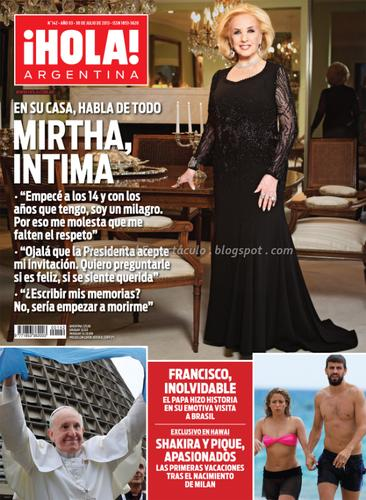 Mirtha legrand en revista hola argentina el for Revistas del espectaculo