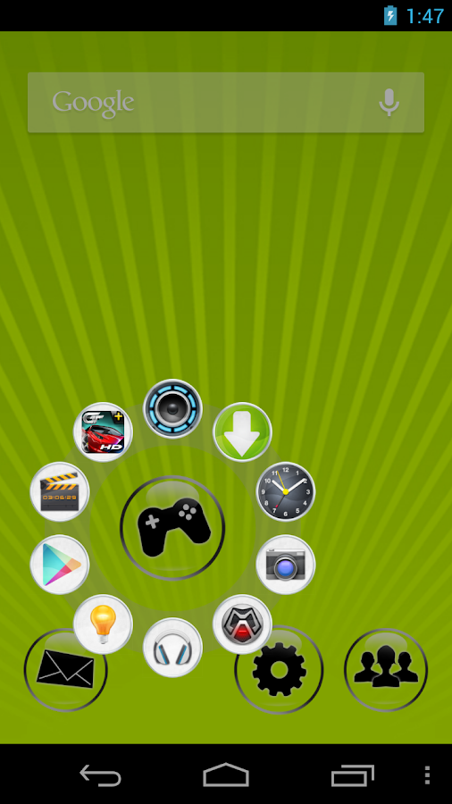 CircleLauncher light- screenshot