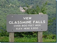 0761 North Carolina, Blue Ridge Parkway - View Glassmine Falls sign & Falls