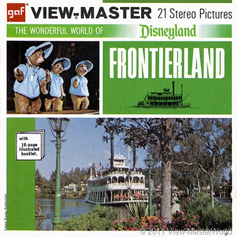 View-Master Frontierland (A176), Packet Cover