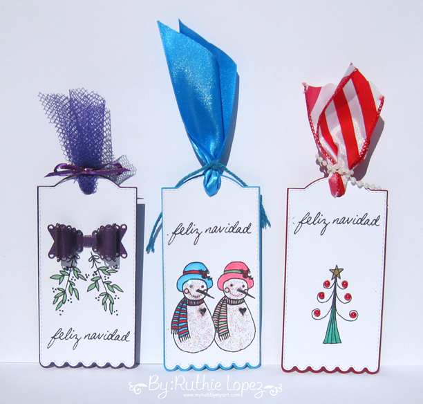 Color Paws - Tags de Navidad - Christmas tags - Ruthie Lopez