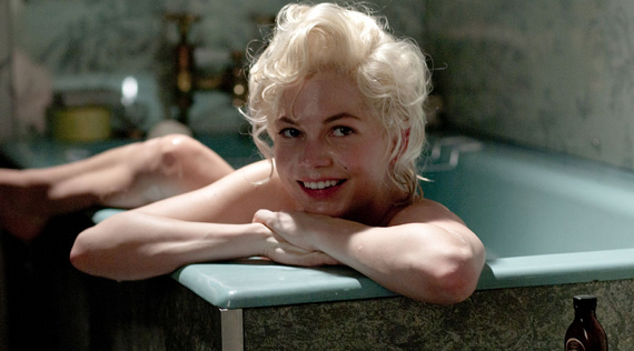 marilyn monroe in a bath