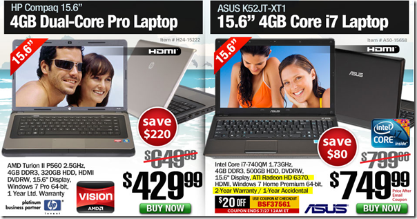 Christmas in July Sale laptops