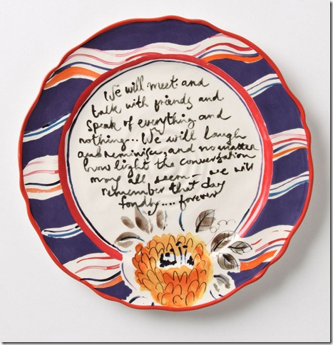 Dinnerware from Anthropologie