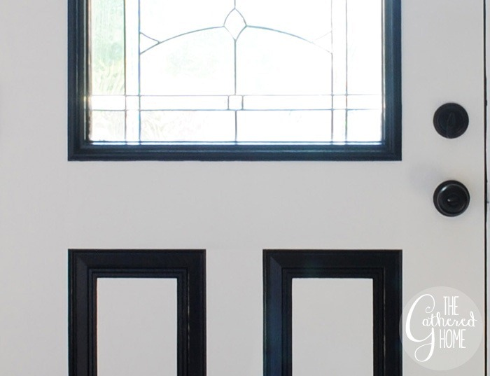 DIY Black and White Painted Front Door