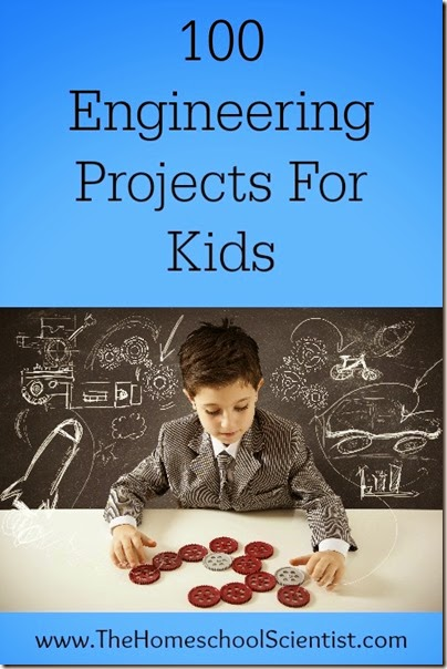 100 engineering projects for kids! Lots of clever, hands on STEM activities for kids of all ages.