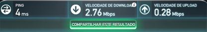 Teste de conexão Speedtest