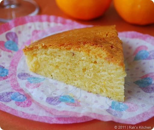 Orange cake slice-1