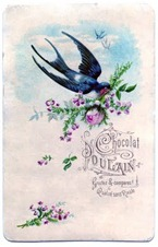 swallow with roses vintage graphicsfairy011c