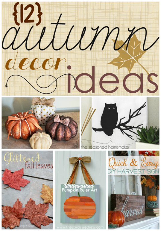 12 Autumn Home Decor Ideas at GingerSnapCrafts.com #linkparty #features