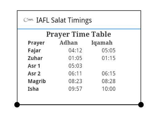 IAFL Salat App