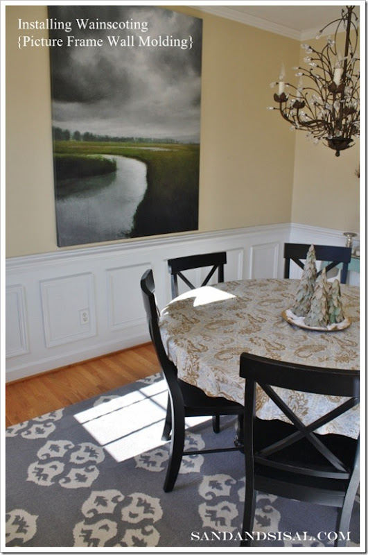 Installing Wainscoting My Dining Room