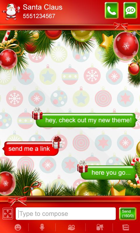 Merry Christmas Pro SMS Theme!- screenshot
