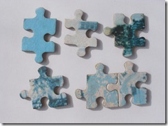 Tuesday 19th September 2006 Menorca, Sa Mesquida. Jigsaw pieces - a selection on bridge at Sa Mesquida