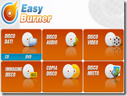 Easy Burner programma gratis in italiano per masterizzare CD e DVD su Windows