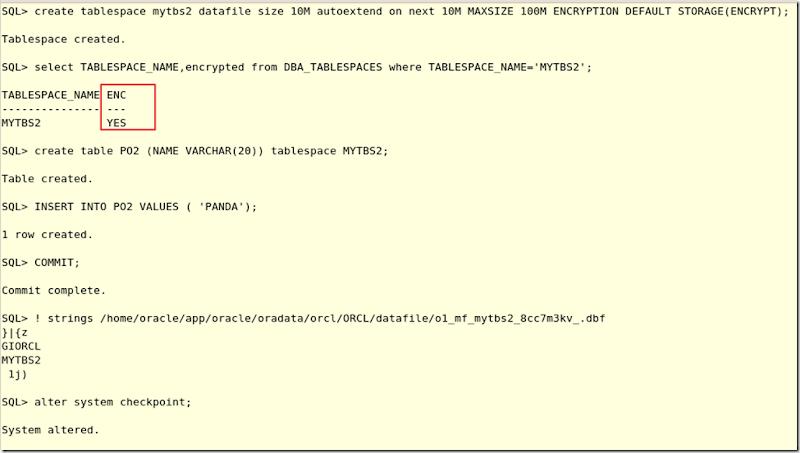 TABLESPACE(6): Tablespace encryption | SQL Panda