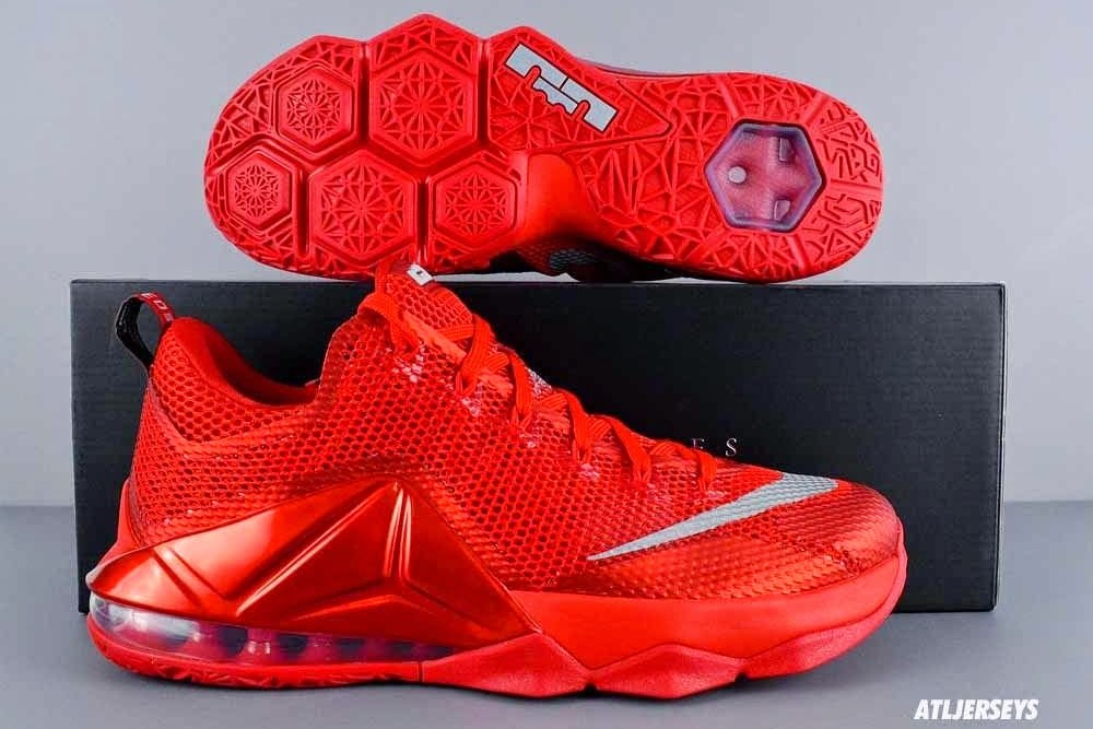 21ffc3335409d ... The All Red Nike LeBron 12 Low is Hitting More Stores ...