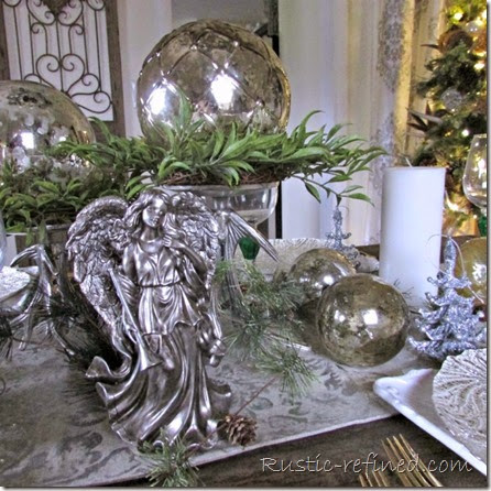 Setting a beautiful Holiday Table for Christmas @ Rustic-refined.com