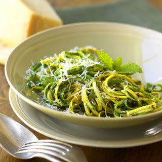 "Zucchini ""Pasta"" with Mint Pesto"