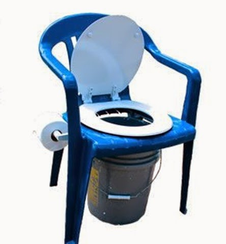 camping toilet chair