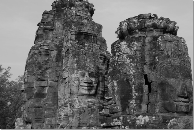 4 faces of Bayon Temple