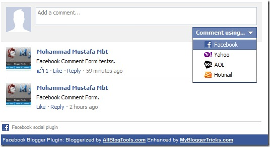 Add Facebook Comments Box To Blogger Blogs - New!