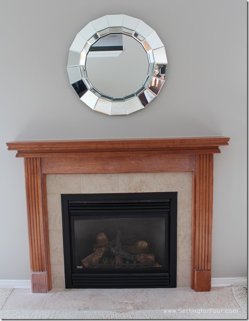 My Fireplace Mantel Reveal A Before And After Makeover