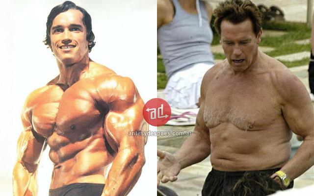 Antes y despues de Arnold Schwarzenegger