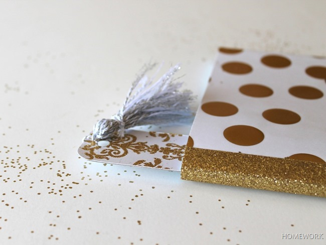 Glitter Covered Mini Notebook {homework} (9)