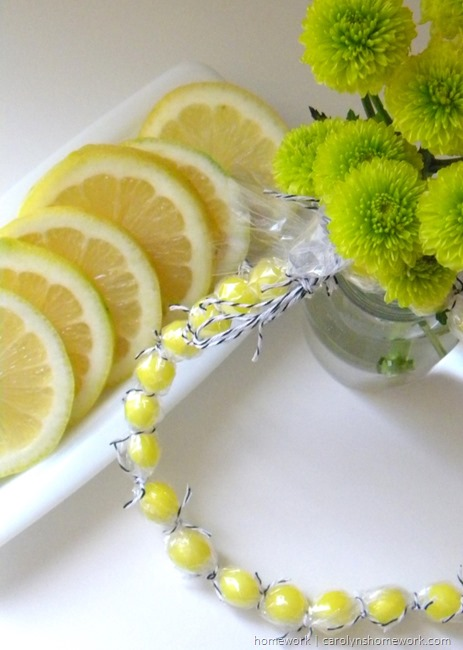Lemon Drop Necklace for kids via homework | carolynshomework.com