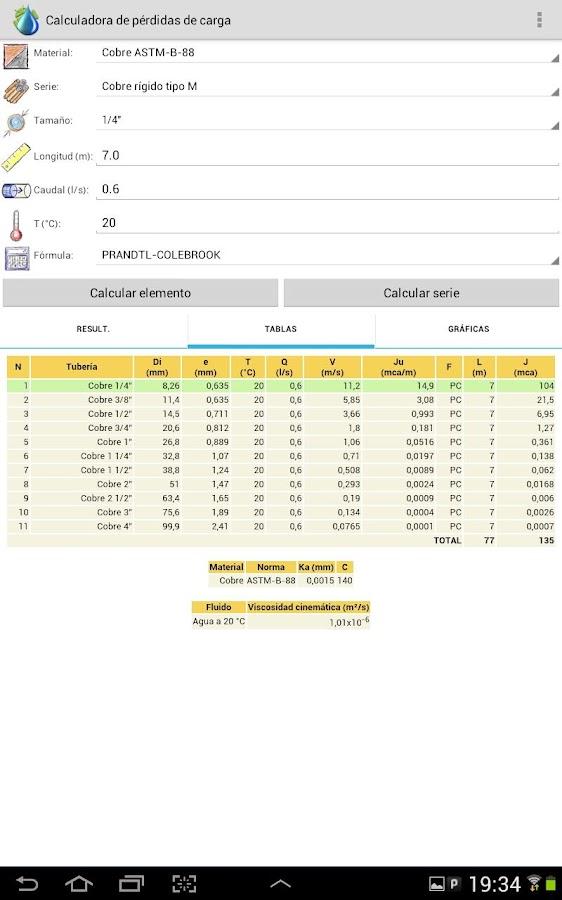 Head Loss Calculator- screenshot