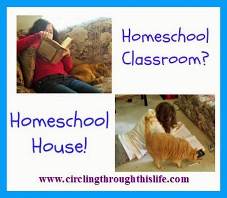 Making Do Without A Homeschool Room ~ Circling Through This Life