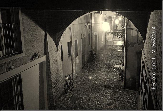 Via delle Volte by night, Ferrara, 2014