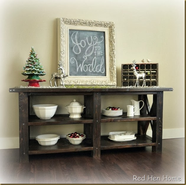 Red Hen Home Grand Rustic X Buffet 8