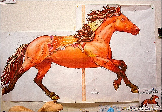 Carousel Carving - Mustang Horse