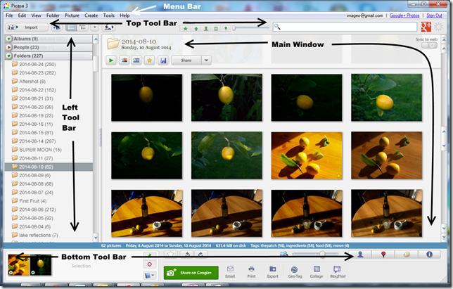 wandering in the light: The Anatomy of Google's Picasa Workspace
