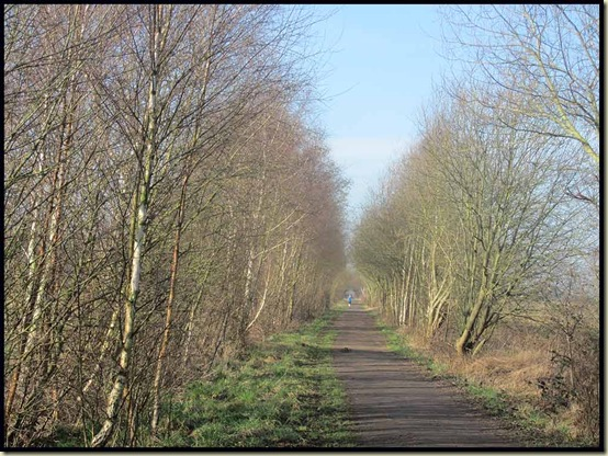 On the Warrington and Stockport railway line near Warburton