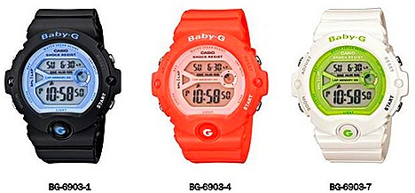 CASIO Baby-G Watches Asia G-Shock concept store Casio G-Factory stores Black BG-6903-1 Pink BG-6903-4 White BG-6903-7  distinctive Y-frame dial  high performance watch woman models workout exercise stylish automatic EL light